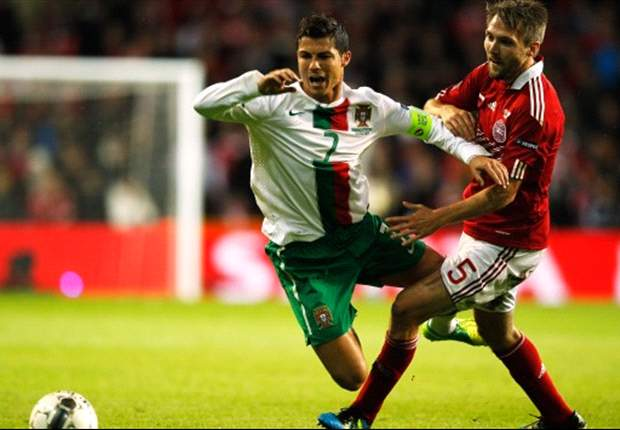 Denmark 2-1 Portugal: Bendtner strike seals Euro 2012 spot as Ronaldo and Co. face play-off clash