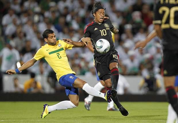 Mexico 1-2 Brazil: Stunning Ronaldinho freekick inspires Selecao comeback win