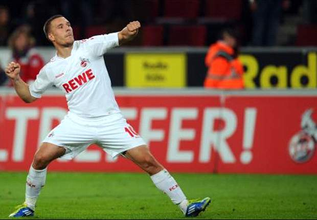 Lukas Podolski has a better left foot than Barcelona's Lionel Messi, claims Koln's Stale Solbakken