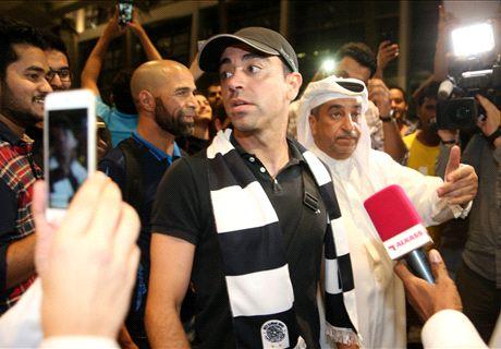 Xavi atterra in Qatar: che festa per lui!