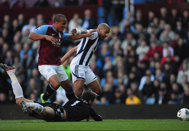 Aston Villa 1-2 West Brom: Alex McLeish suffers first home defeat after controversial Herd sending off turns game