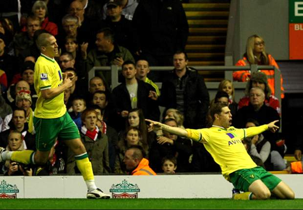 Liverpool 1-1 Norwich City: Grant Holt header gives Canaries deserved point after Craig Bellamy opener for flat Reds