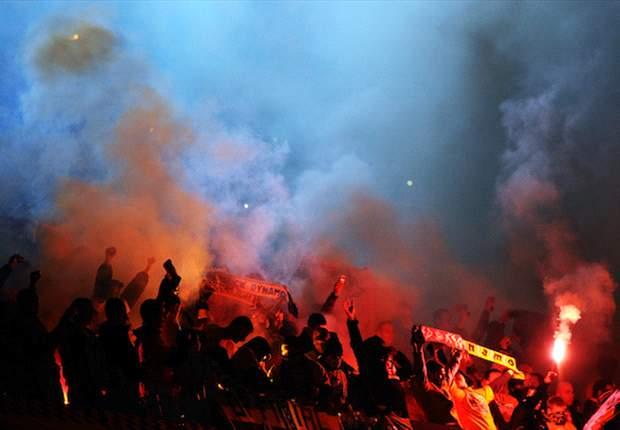 Die Dynamo-Fans benahmen sich schon häufig daneben