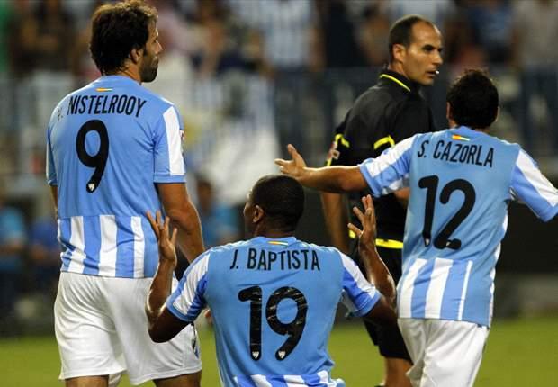 Liga BBVA: El Málaga gana al Espanyol con mucha polémica (2-1)