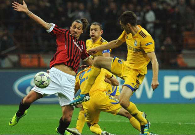 BATE Borisov 1-1 AC Milan: Renan Bressan penalty cancels out Ibrahimovic strike as lacklustre Italians are held in Belarus