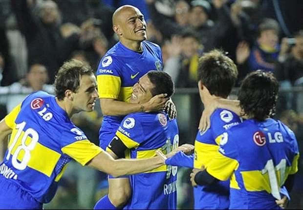 Godoy Cruz 1-2 Boca Juniors: Cvitanich & Schiavi strike to leave Xeneixe on verge of Apertura title