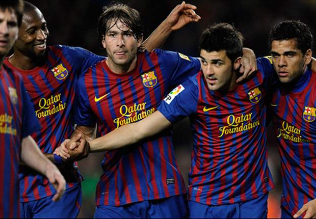 Barcelona 4-0 Zaragoza: Pique, Messi, Puyol & Villa all on target as Catalans crush Javier Aguirre's struggling side