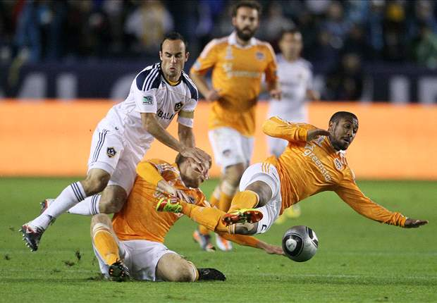 LA Galaxy 1-0 Houston Dynamo: Landon Donovan scores lone goal to lead the home side to third MLS Cup title