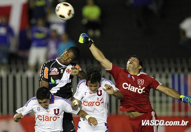 Vasco só empata com La U no jogo de ida