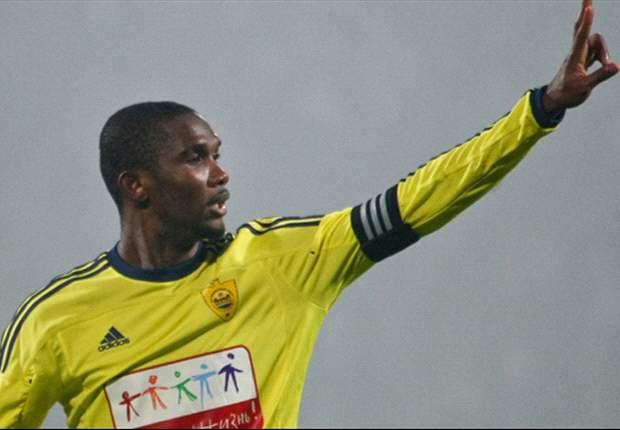 Former Inter and Barcelona star Eto'o scores a double in Anzhi victory