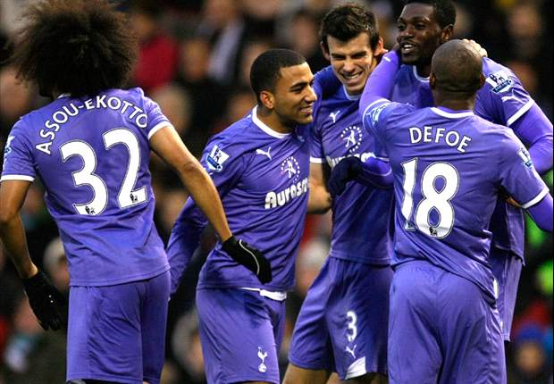 West Brom 1-3 Tottenham: Defoe and Adebayor combine as Spurs come from behind to maintain winning streak