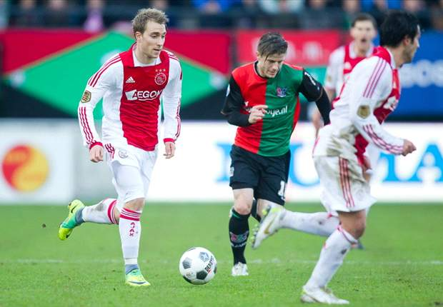 Ajax midfielder Christian Eriksen on Manchester United's radar coach reveals