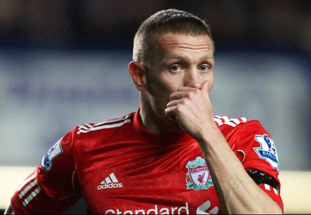 Liverpool's Craig Bellamy wipes away the tears to put in a performance that does justice to the memory of Gary Speed