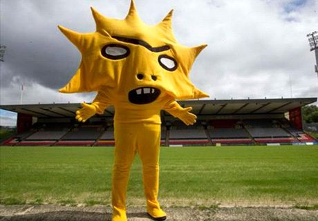 Is this the scariest football mascot ever?
