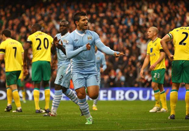 Manchester City 5-1 Norwich: Aguero & Nasri set up stunning rout as Premier League leaders extend 100 per cent home record