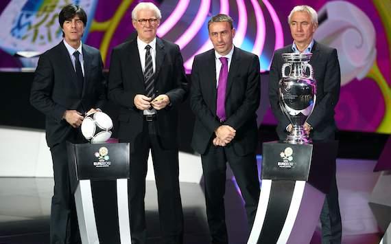 EURO 2012 Final Draw: Joachim Löw, Morten Olsen, Paulo Bento, Bert van Marwijk
