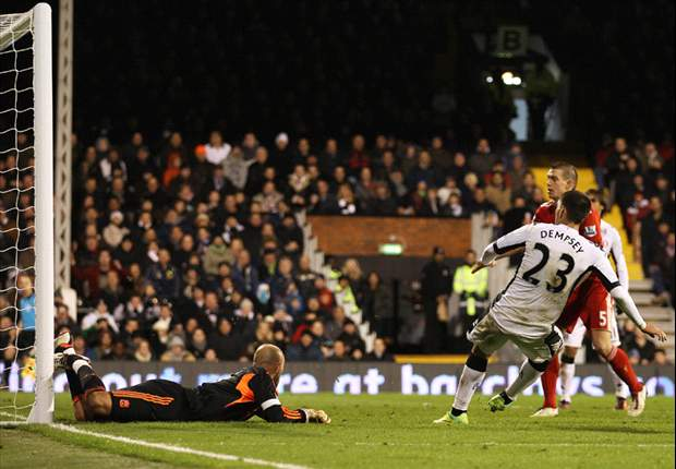 Fulham midfielder Clint Dempsey sets record for top American goalscorer with game winner against Liverpool