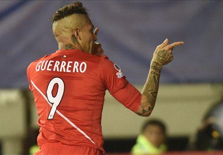 Guerrero hat-trick sets up Chile clash