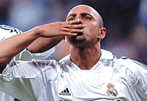 Anzhi Makhachkala's Roberto Carlos scores his first goal in Russia