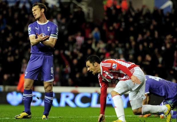 Stoke City 2-1 Tottenham: Redknapp's men see unbeaten run crash to a halt after Etherington brace sinks former club