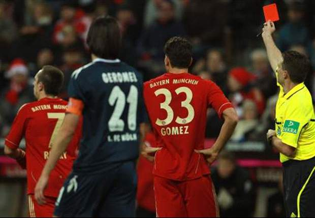 Bayern Munich 3-0 Koln: Ribery Red Card Mars Victory As Hosts Enter Mid-Season As Autumn Champions