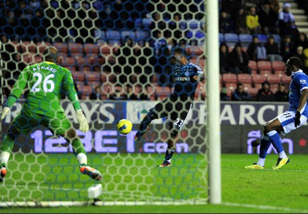 Wigan Athletic 1-1 Chelsea: Late Jordi Gomez tap-in salvages point for hosts as Andre Villas-Boas' men stumble in title race