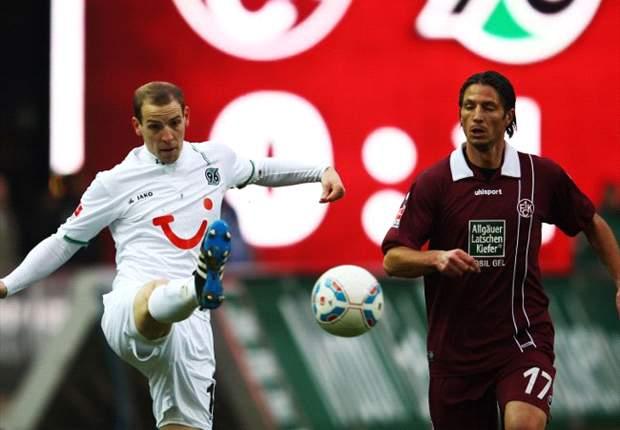 Kaiserslautern nur mit 1:1-Remis gegen schwache Hannoveraner