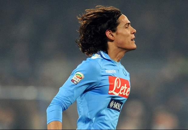 Napoli's Edinson Cavani admits to minor spat with coach Walter Mazzarri