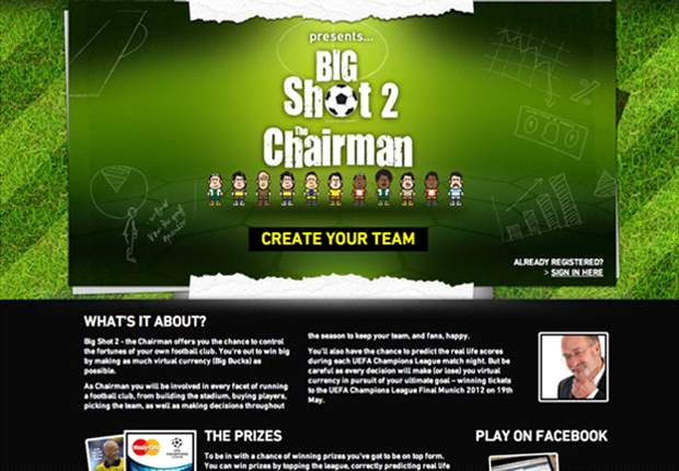 Control your own football club with Big Shot 2 - The Chairman