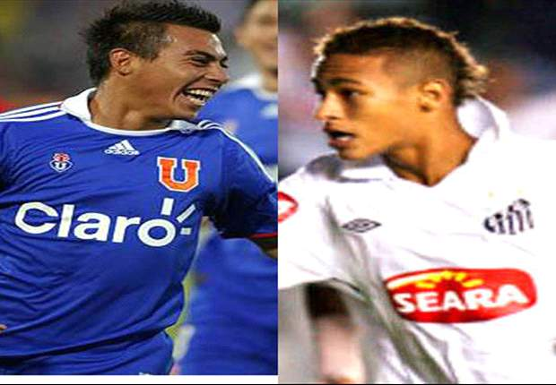 Santos' Neymar and Universidad de Chile's Eduardo Vargas lead race for South American Player of the Year