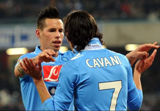 A Napoli si godono la 'miniera d'oro' Hamsik-Cavani: 110 goal in tre anni insieme