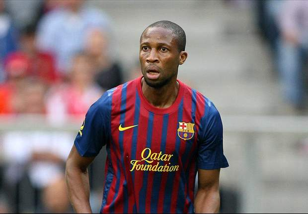 Barcelona players and president bid farewell to Seydou Keita