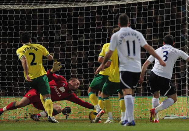 Norwich City 0-2 Tottenham: Magical double from Gareth Bale sees Spurs pull clear of Champions League rivals