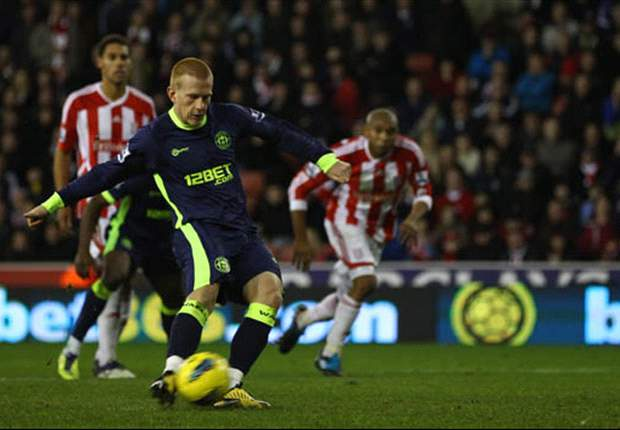 Stoke City 2-2 Wigan Athletic: Late Watson penalty salvages point after dramatic finish at Britannia Stadium