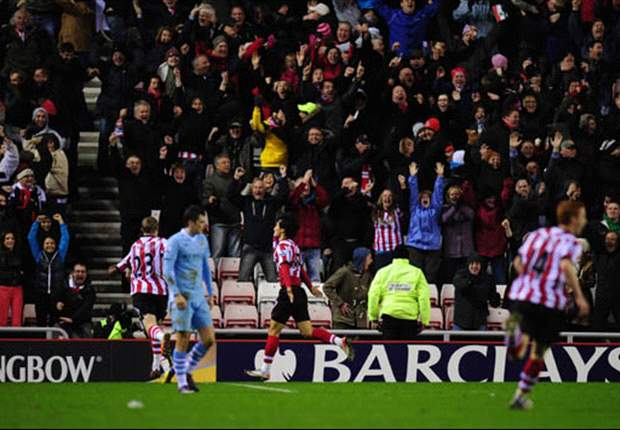 Sunderland 1-0 Manchester City: Ji Dong-Won scores stoppage time winner as Mancini's men fail to capitalise on Manchester United's slip-up