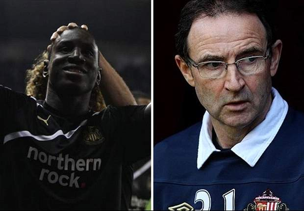 Newcastle United striker Demba Ba wins Player of the Month & Sunderland manager Martin O'Neill named Manager of the Month