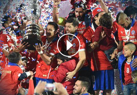 Messi druipt af, feest Alexis en Chili