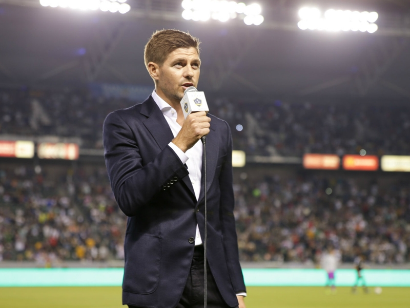 Sparks fly between Gerrard and supporters at LA introduction