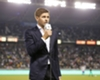 Sparks fly between Gerrard and supporters at LA Galaxy introduction