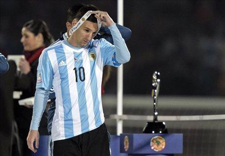Messi vertraagt uitreiking Copa America
