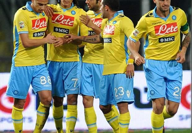 Palermo 1-3 Napoli: Pandev, Cavani and Hamsik all on target