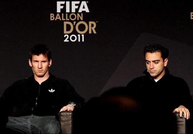 Lionel Messi: Prefiriría que el Balón de Oro lo ganaran Xavi o Andrés Iniesta