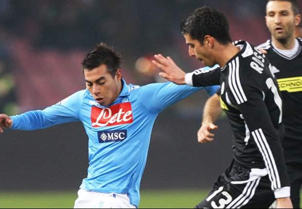 Napoli-Cesena 2-1: Popescu gela il San Paolo, ma nella ripresa Cavani e Pandev firmano la rimonta azzurra