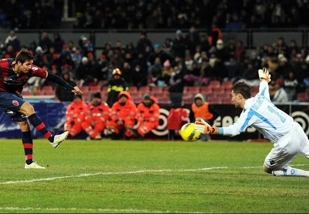 Napoli 1-1 Bologna: Cavani penalty salvages point for Mazzarri's men