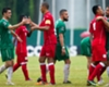 Cuba players (in red) after friendly last month