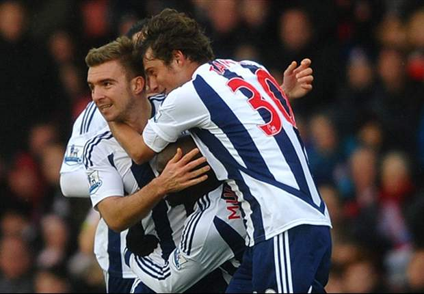 Stoke City 1-2 West Brom: Last-gasp Dorrans free-kick cancels out Jerome equaliser to secure Baggies' first league win of 2012