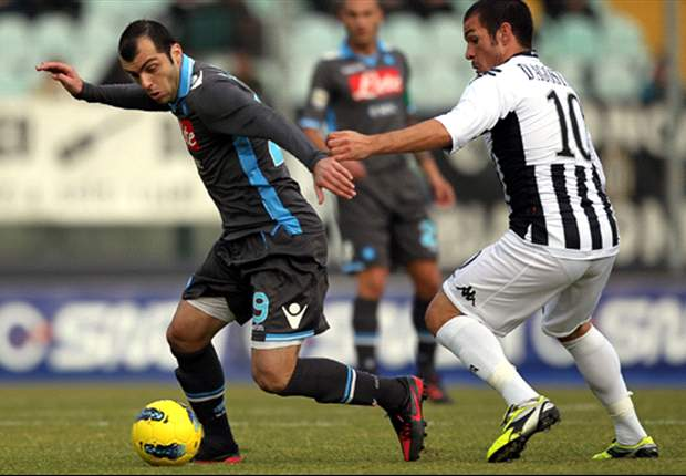 Siena 1-1 Napoli: Pandev equaliser saves face after Cavani's penalty miss