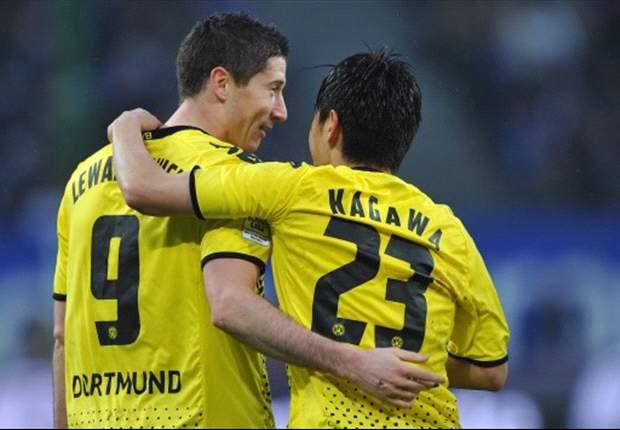 Kagawa hits out at Dortmund teammate Lewandowski
