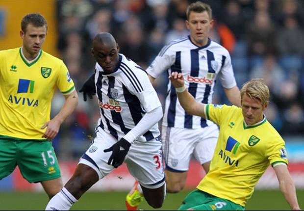 West Bromwich Albion 1-2 Norwich City: Late Simon Jackson strike sends host through after Grant Holt opener