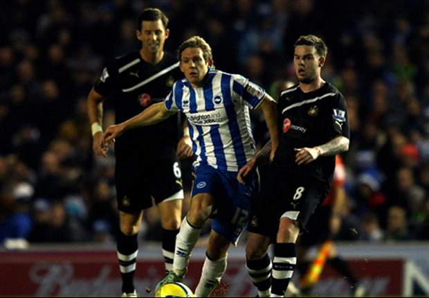 Brighton 1-0 Newcastle: Williamson own goal secures FA Cup giant-killing as Gus Poyet's charges move into last 16